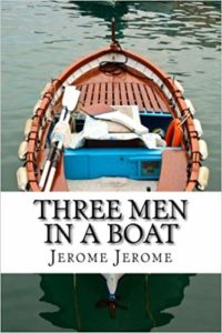 three man in a boat
